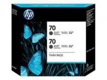 Оригинальный картридж HP CB339A (Сдвоенная упаковка матовых чёрных картриджей №70)