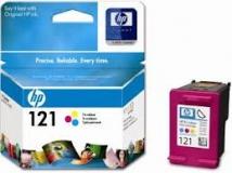 Оригинальный картридж HP CC644HE трёхцветный картридж №121XL
