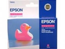 Оригинальный картридж Epson T0553 пурпурный картридж