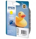 Оригинальный картридж Epson T0554 желтый картридж C13T05544010