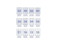 Наклейки А4, 100 листов, 48,5*25,4 (44делений)