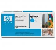 Оригинальный картридж HP Q6001A голубой картридж